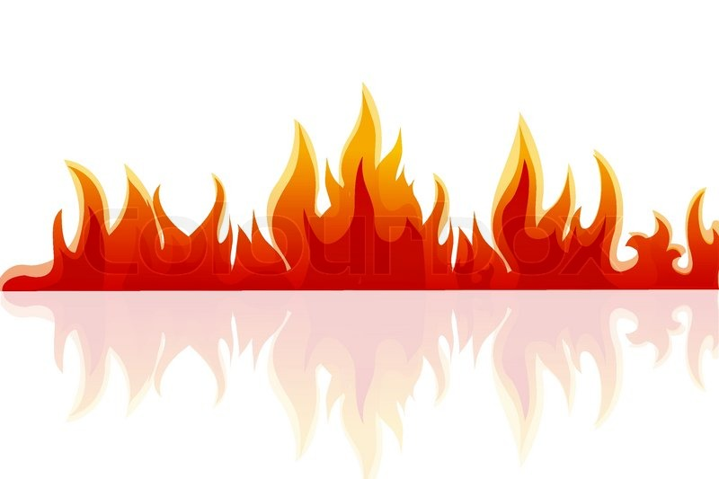 Fire Flames White Background .-Fire Flames White Background .-8