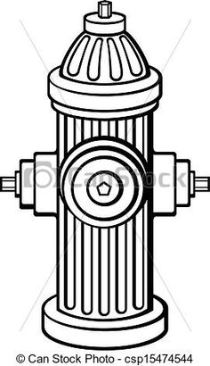 Fire Hydrant Outline-fire hydrant outline-11
