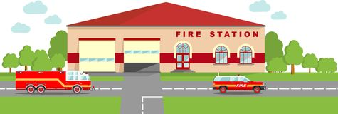 Fire station building clipart - ClipartFox