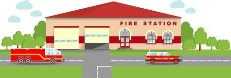 Fire station building clipart - ClipartFox