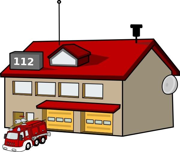 Fire Station clip art
