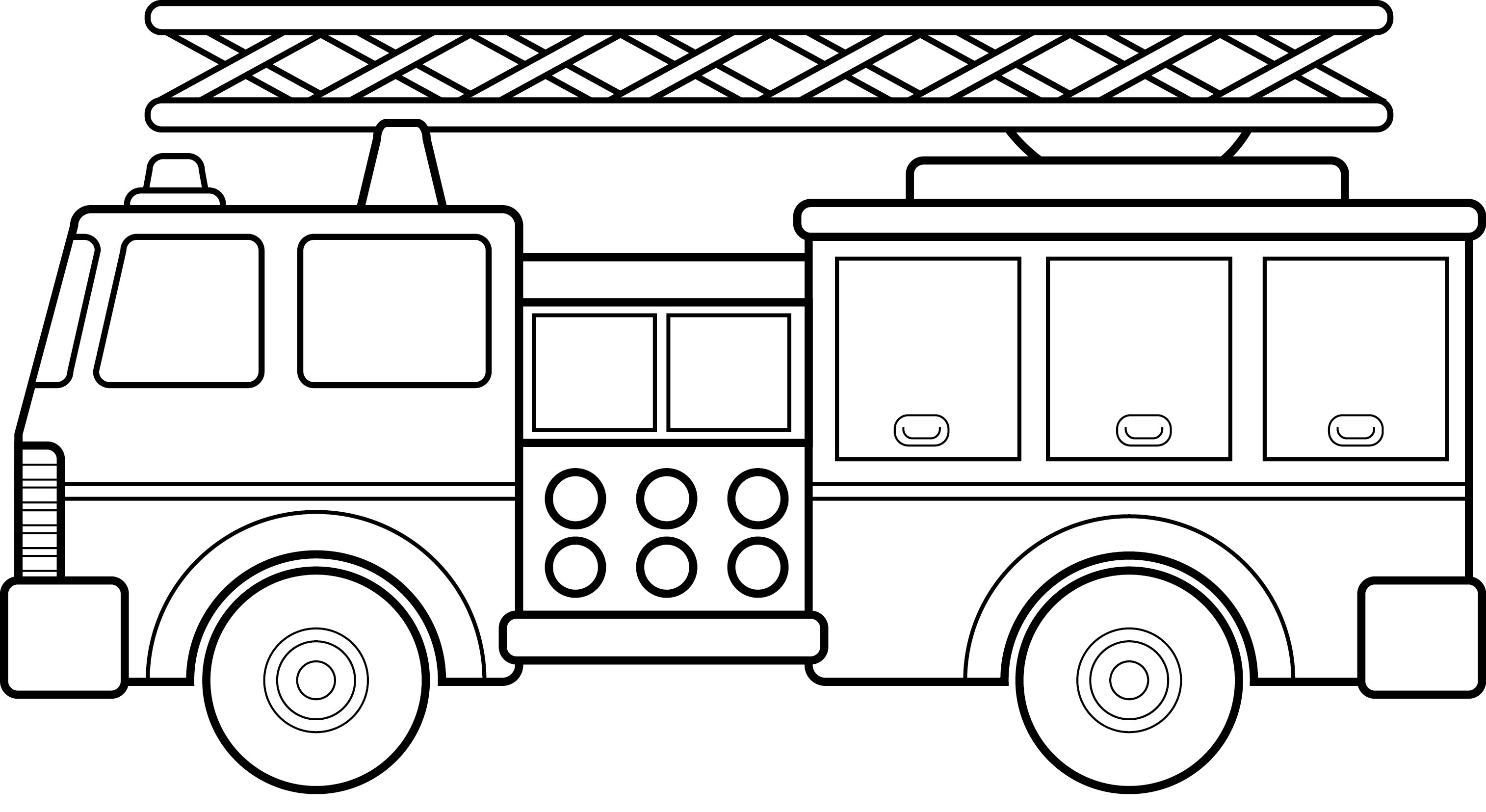 Fire truck cars and trucks clip art blac-Fire truck cars and trucks clip art black and white car 2 top-17