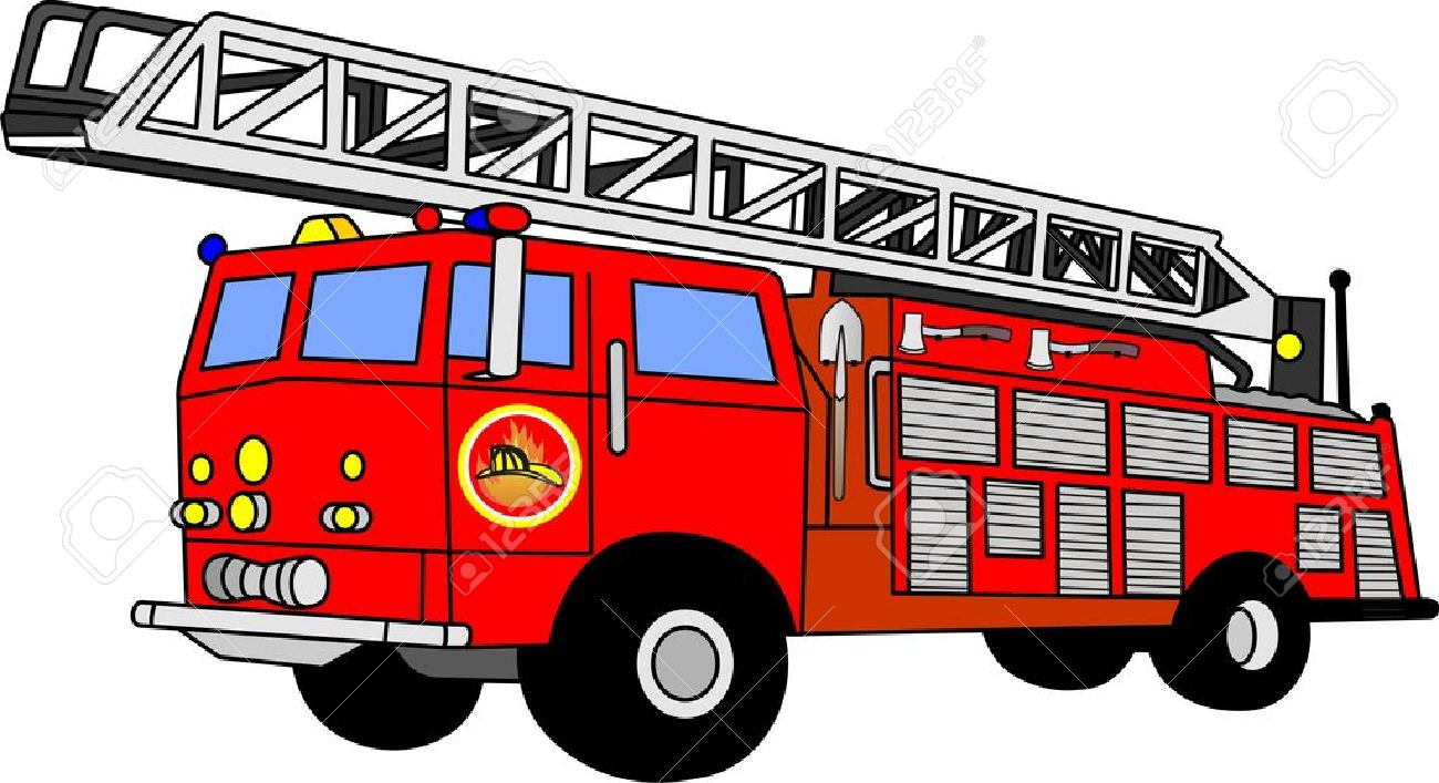 Fire truck clipart images - .
