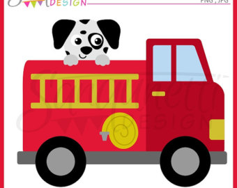 Fire Truck clipart, transportation clipa-Fire Truck clipart, transportation clipart, dalmatian clipart, instant download-15