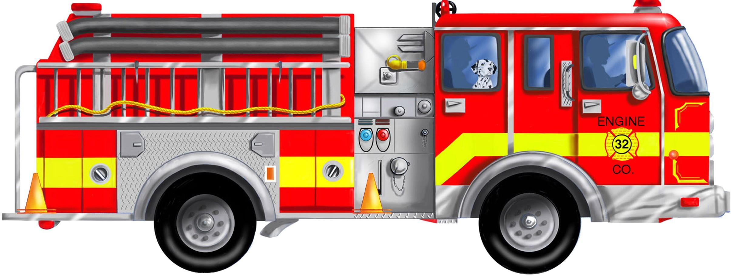 Fire truck firetruck clipart image firetruck silhouette clipartcow