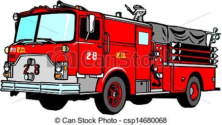 ... Fire Truck Vector Illustration-... Fire Truck Vector Illustration-9