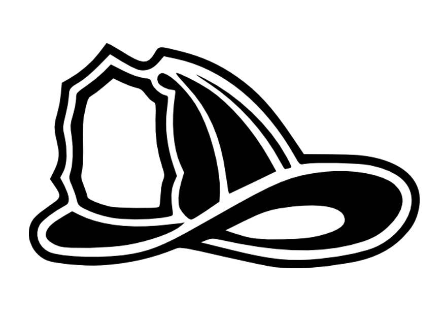 Firefighter Hat Coloring Page Images Pictures - Becuo