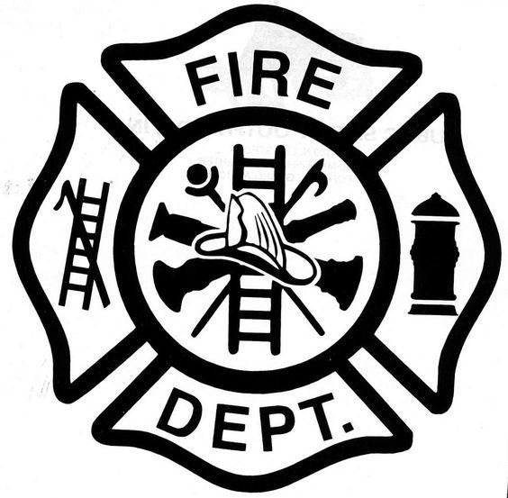 Firefighter Logo Clip Art | Custom Fire Dept Decal Maltese Cross Any by Itsawordofartvinyl