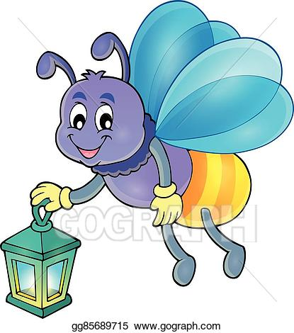 Firefly Insect Black Inky Drawing · Firefly with lantern theme image 1