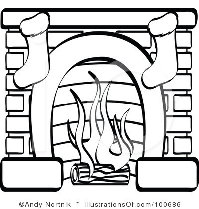 fireplace clipart - Clipart Fireplace