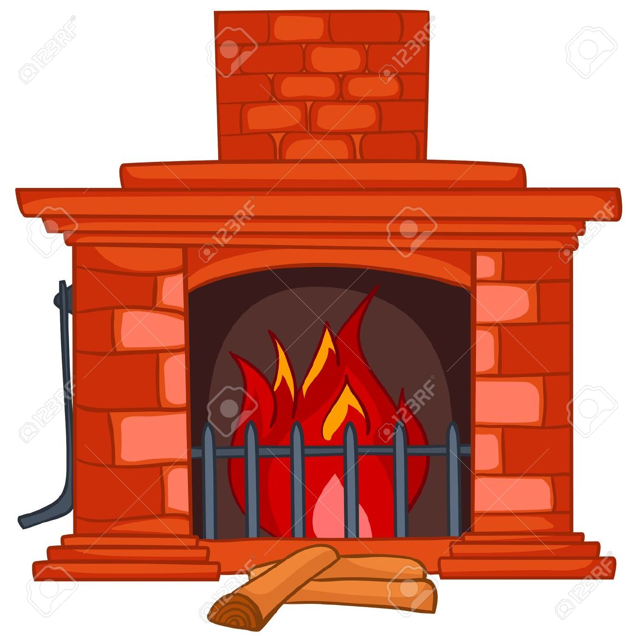 fireplace: Cartoon Home .