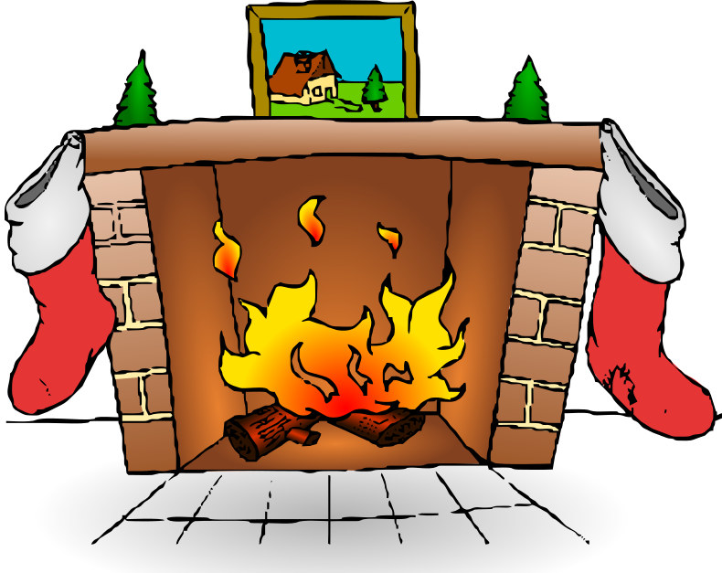 Fireplace clip art download