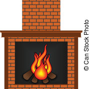 Fireplace Clip Artby PILart9/2,342; Fireplace - Scalable vectorial image representing a.