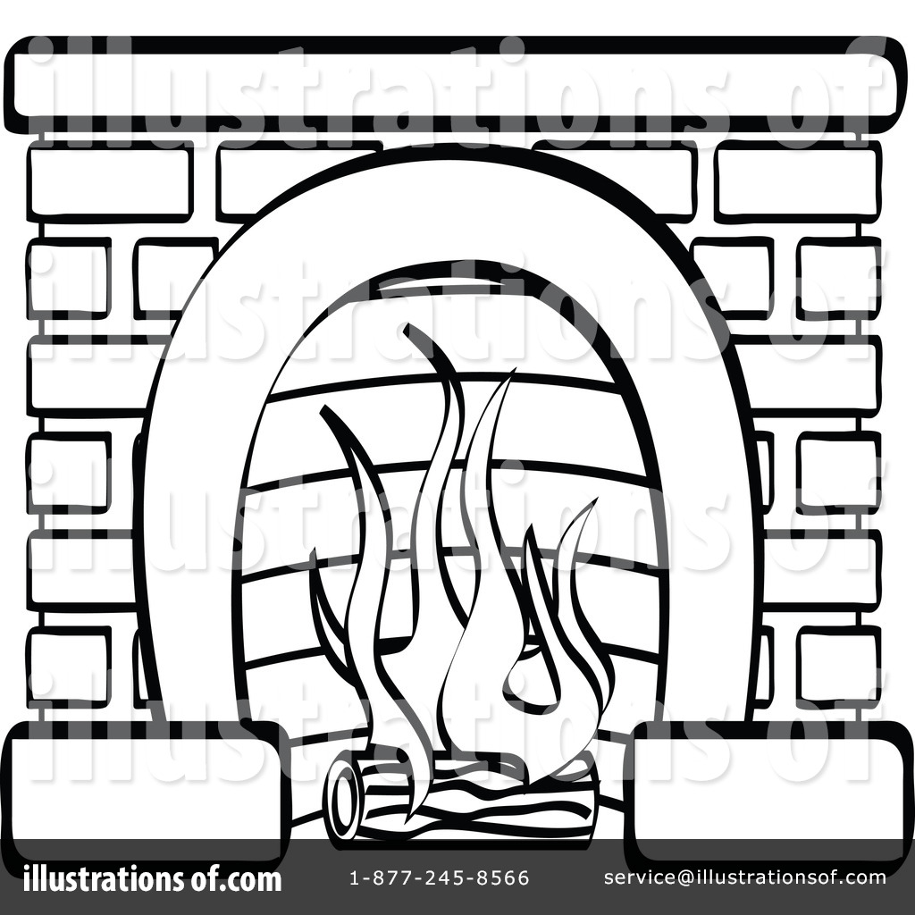 Fireplace Clipart #100689 - Illustration by Andy Nortnik
