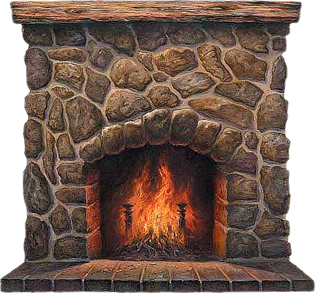 Fireplace clipart 7
