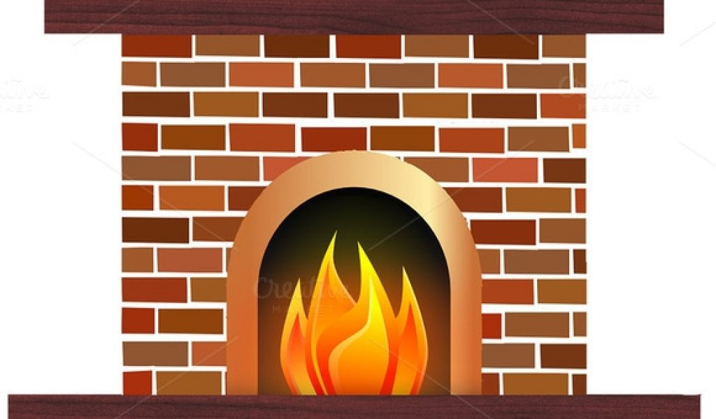 Fireplace clipart design