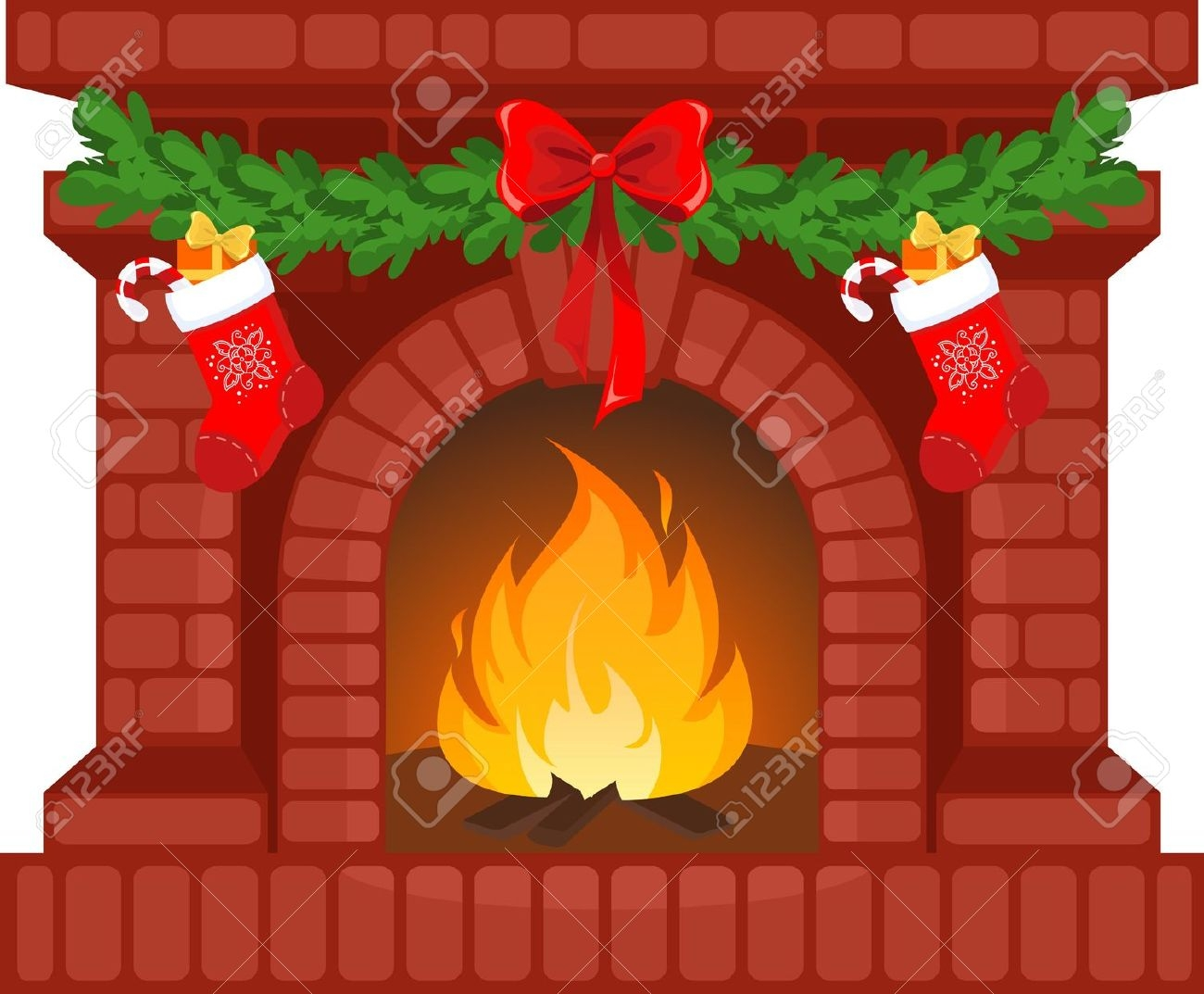 Fireplace clipart pictures idea