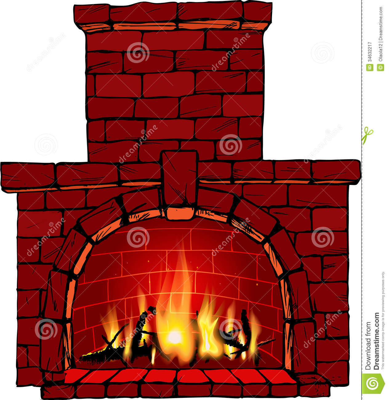 Fireplace Royalty Free Stock Photography-Fireplace Royalty Free Stock Photography Image 34632217-5