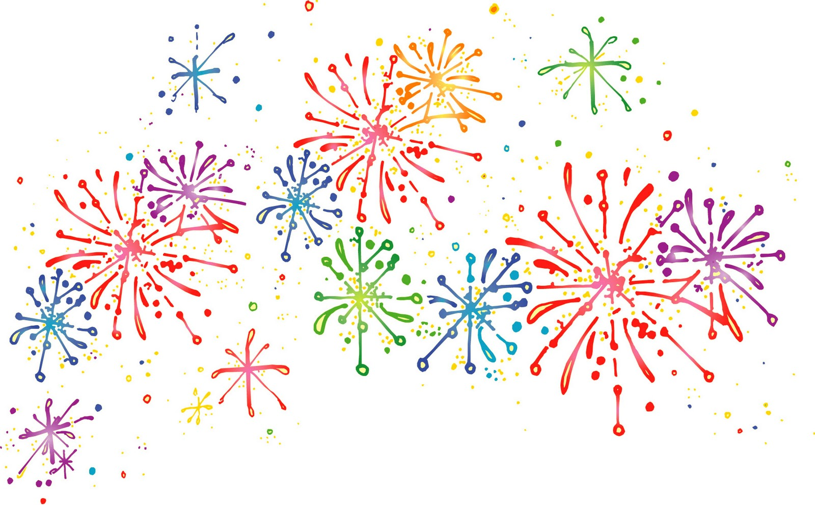 Firework Clipart Border Celebrate