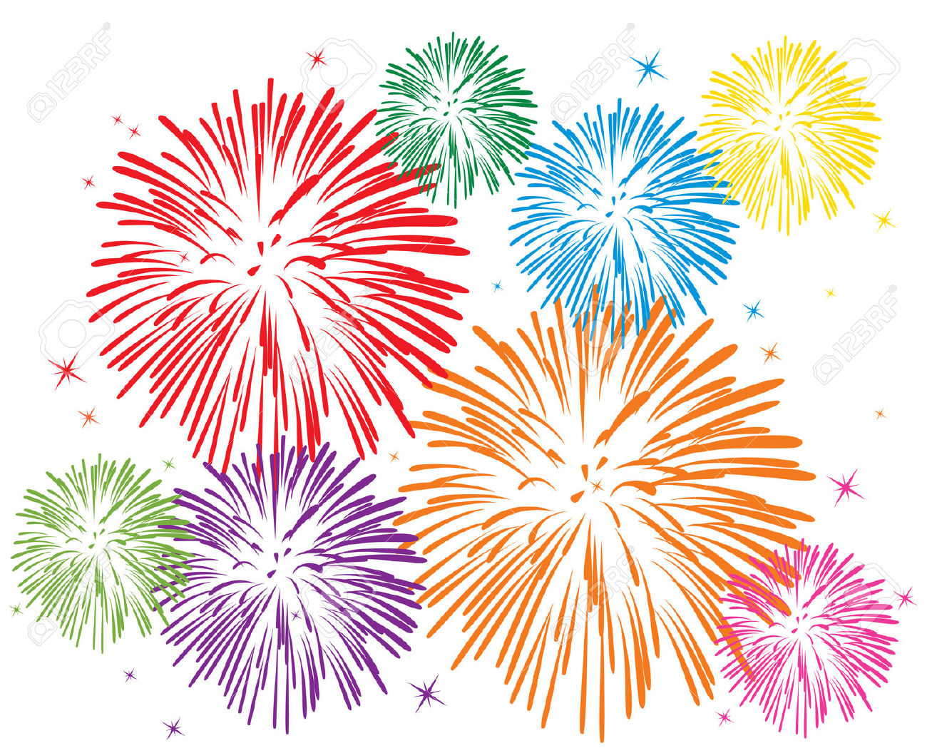 Fireworks clipart page 1