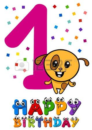 First Birthday: Cartoon Illustration Des-first birthday: Cartoon Illustration Design of the First Birthday  Anniversary for Little Girl Illustration-9