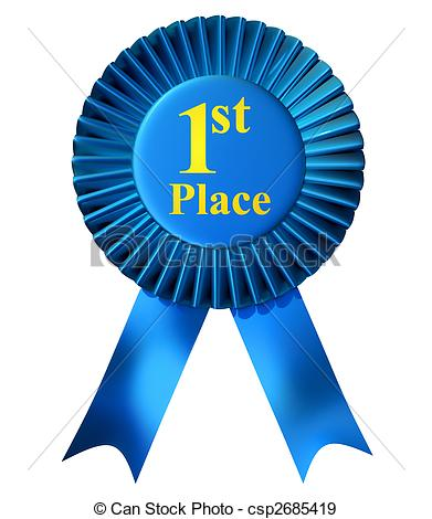 First Clipart. First Place Ribbon - Blue-First Clipart. First place ribbon - Blue .-8