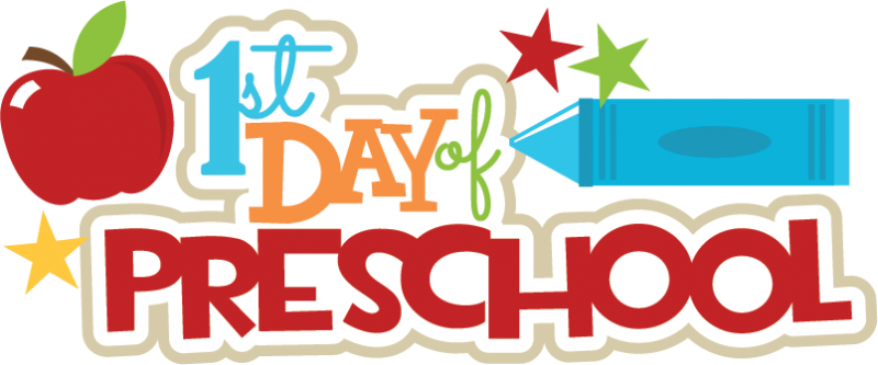First day of preschool clipart