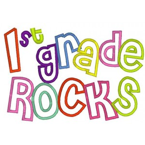 First Grade Rocks Clipart