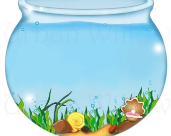 Fish bowl clipart 2
