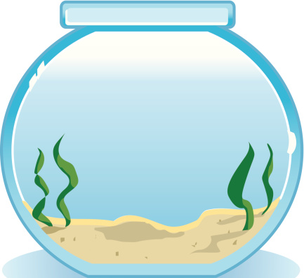 Fish Bowl Mortice vector art .