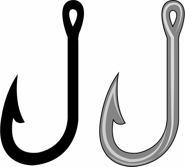 ... Fish hook clipart free - ClipartNinja ...