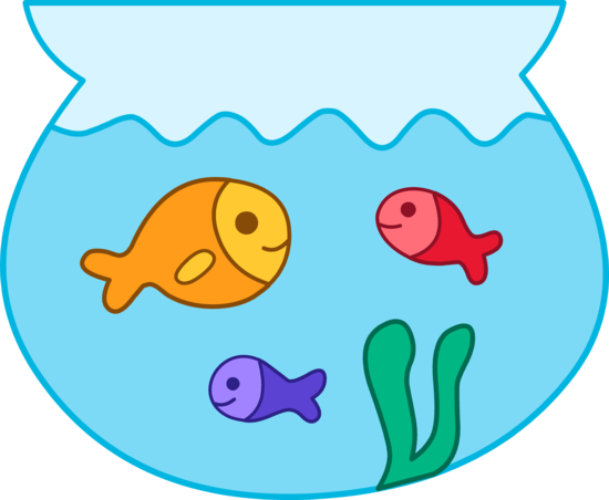 Fish In A Bowl Clipart