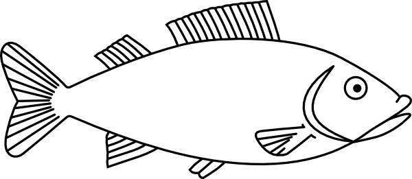Fish Outline Clip Art-Fish Outline clip art-6