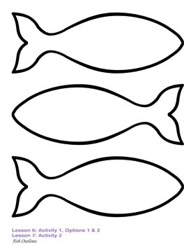 Fish Outline Drawing, .