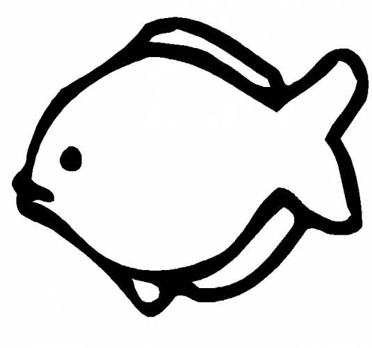 Fish Outline To Colour - Clipart library