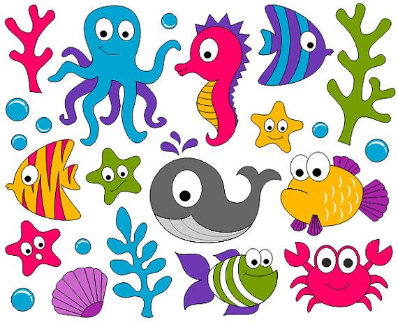 Fish under the sea clipart - .