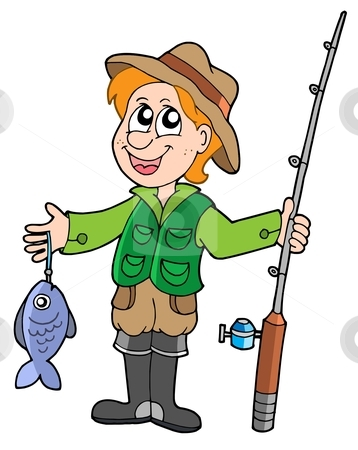 Fisherman Clipart Cutcaster Photo 100361591 Fisherman With Rod Jpg
