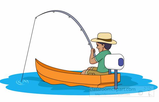 Fisherman Fishing In Small .-Fisherman Fishing In Small .-18