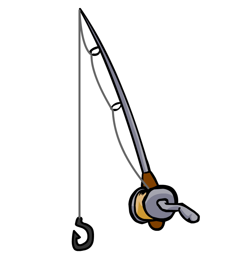 Fishing Pole With Fish Clipart-fishing pole with fish clipart-1