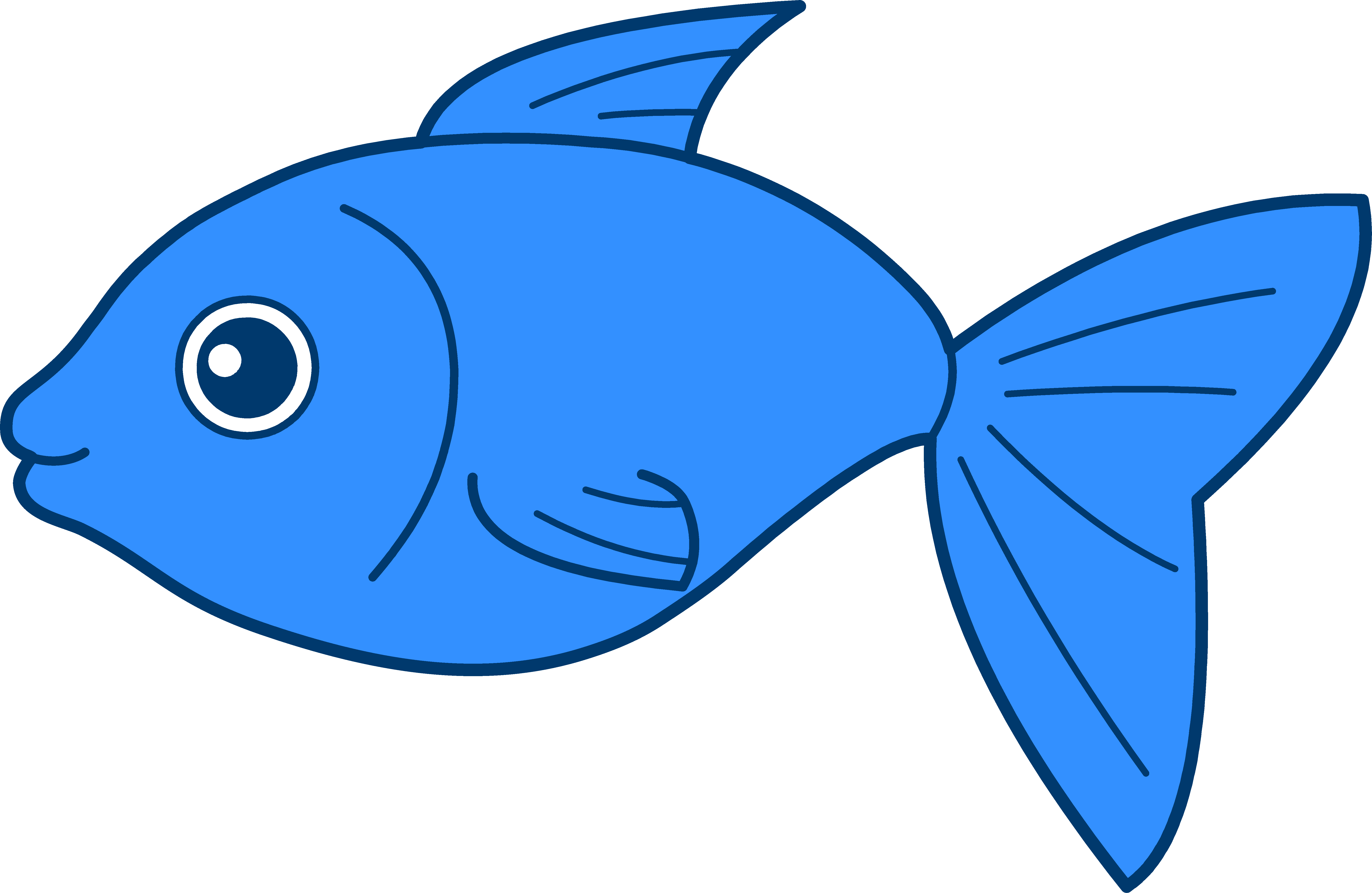 Fishing blue fish clipart