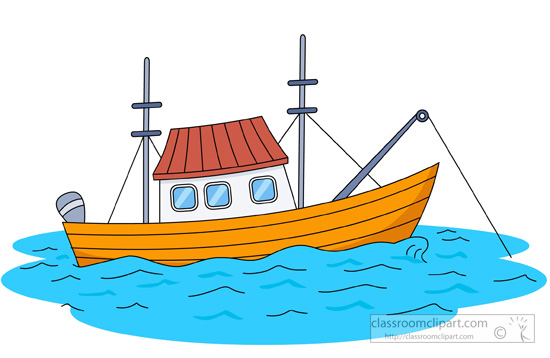 fishing boat clipart. Size: 78 Kb
