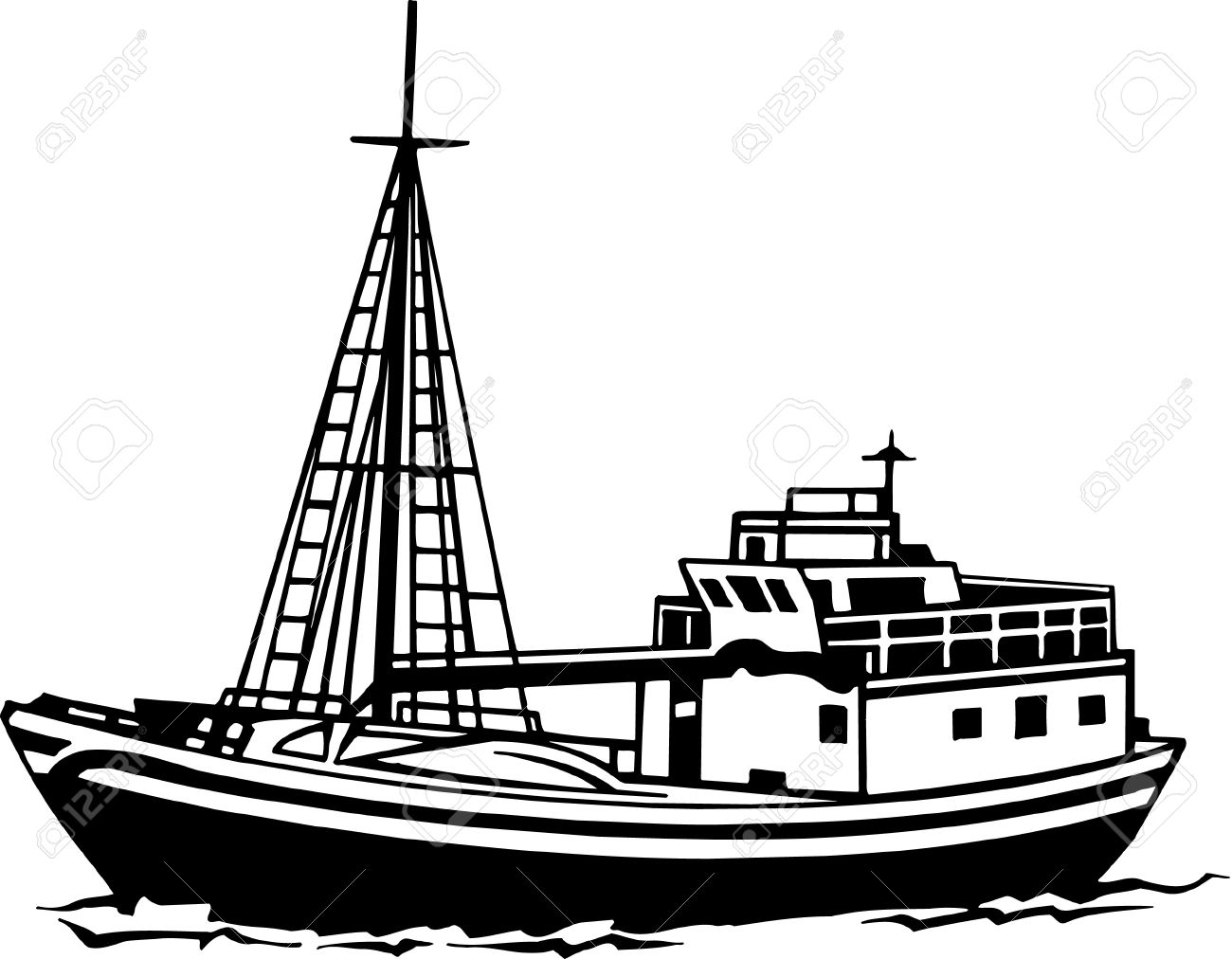 fishing boat: Fishing Trawler .
