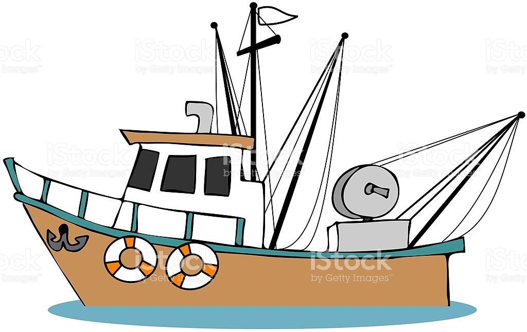 Fishing Boat vector art illustration
