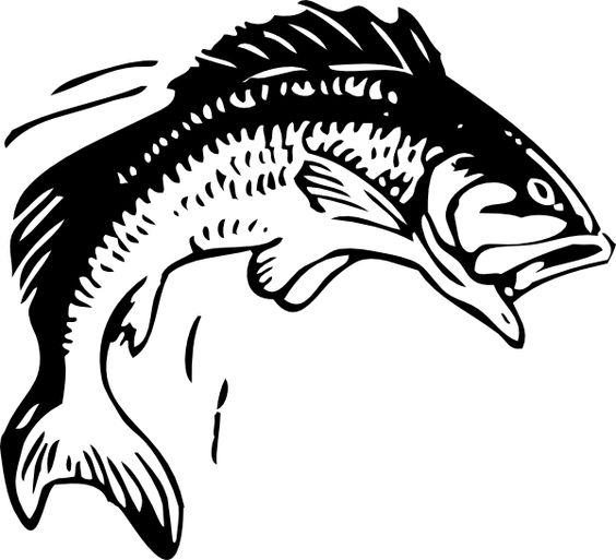 fishing clip art | Jumping Fish clip art - vector clip art online, royalty free