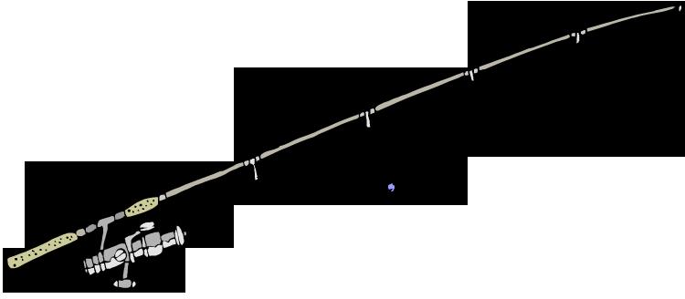 Fishing pole border clipart kid