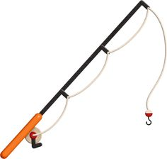 Fishing pole fishing rods and cartoon on clip art