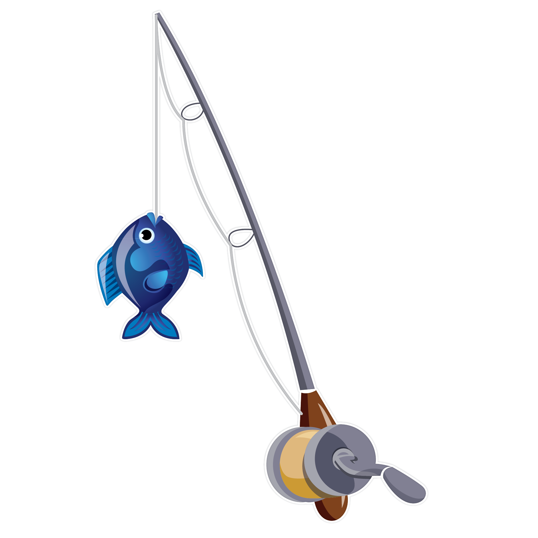 ... Fishing Rod With Fish Clipart ...
