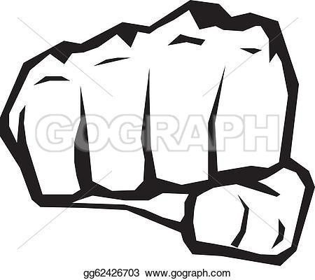 fist silhouette. - Fist Clip Art