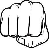 fist silhouette. fist