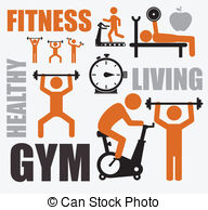 . ClipartLook.com Fitness design over white background, vector illustration